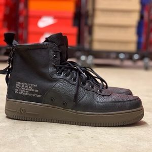 Nike SF Air Force 1 Mid Mens Shoes Black NEW Sz 11
